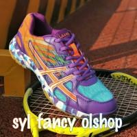 sepatu badminton anak dan dewasa cewe cowo lefus purple original 100%
