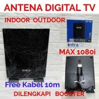 ANTENA DIGITAL TV INDOOR OUT DOOR INTRA INT-118 FREE KABEL 10M ori