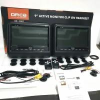 Headrest Monitor Clip On Orca 9inch HM 9887 HITAM 1 set - Clipon Banta