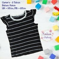 Baju Atasan Anak Belang/Blaster Hitam Putih - Carter's - 2 Tahun