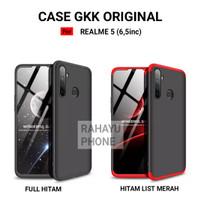 Hardcase REALME 5 Case GKK 360 ORIGINAL Full Protection - Hitam