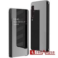 Flip Samsung Galaxy A70 Clear View Motif Standing Cover Mirror Case
