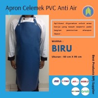 Celemek Cuci Piring Bahan PVC Anti Air Full Warna BIRU