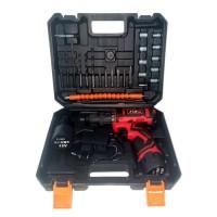 JLD 12V-SET Bor Obeng Bor Baterai 12 Volt Charger Cordless Drill Char