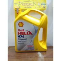 OLI SHELL HELIX HX6 10W-40 4L GALON - OLI SHELL HX6