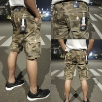 Celana kargo pendek loreng/ cargo pria army