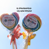 Permen Lolipop Okeliebe - Souvenir Ulang Tahun / Jajanan Anak (6.5 CM)