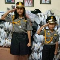 kostum profesi POLWAN cilik baju karnaval anak seragam profesi anak