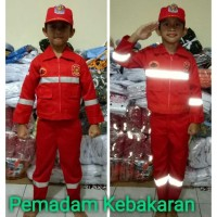 seragam PEMADAM cilik kostum karnafal baju profesi anak baju pawai