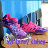 sepatu badminton lefus purple pink original 100%