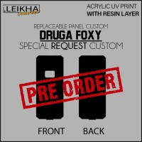 PRE ORDER Khusus Panel Backdoor Resin Desain Custom Druga Foxy