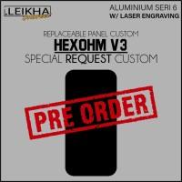 PRE ORDER Panel Backdoor Aluminium + Laser Desain Custom Hexohm V3