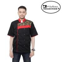 Baju koki combination batik Baju chef Seragam koki propesional