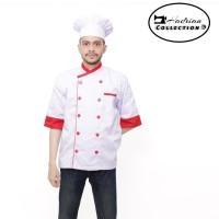 Baju koki pria baju chef seragam koki propesional