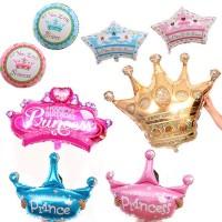 Balon Foil Bentuk Mahkota Princess Glitter untuk Dekorasi Pesta Ulang