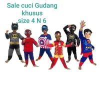 Baju topeng size 4 dan 6 / baju kostume anak superhero captain america