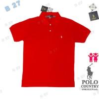 POLO COUNTRY C7-25 Original Kaos Polo Shirt Anak Cotton Merah Cabe