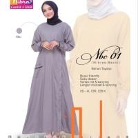 Baju Gamis Dress Muslimah Syari ORI Nibras NBC 01 Size XS-XL Murah