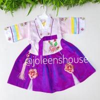 Hanbok Kecil Ungu 1-3 /Baju Kostum Korea Bayi Perempuan