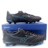 Sepatu Bola Mizuno Morelia Neo II MD Black Blue Atoll P1GA195325 Ori