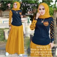Himaru Set /Setelan Rok Baju Muslim Wanita