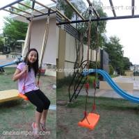 Ayunan Portable, Ayunan Tali Plastik Indoor Outdoor, Kemping, Kemah