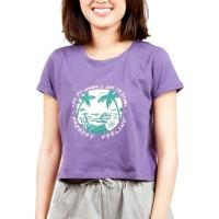 Surfer Girl Sundaze Purple Crop Top 19WITSSB04PRP