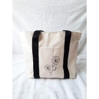 Tote Bag Kanvas Illustration Woman / Tas Jinjing Wanita Kanvas
