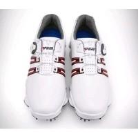 Sepatu Golf Sneakers Original PGM Super Quality - Putih Merah, 42