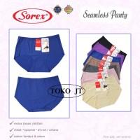 Celana Dalam Wanita Seamless Tanpa Jahitan Midi Polos Sorex 001 3pcs