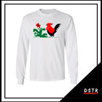 Kaos Baju Distro Unik Keren Mangkok Mie Ayam Jago C01 Lengan Panjang