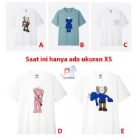 ORIGINAL KAWS x UNIQLO Short Sleeve Graphic T-Shirt / Tee - Kaos