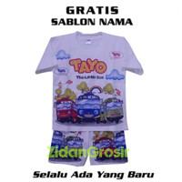 Baju Setelan Anak Laki Laki Tayo The Little Bus Gratis Nama