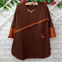 blouse wanita jumbo orange XXXL/atasan wanita big size XXXL/bajukantor