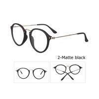 Kacamata Wanita Bulat Hitam Bingkai Lensa Optik Glasses