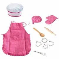 Mainan Edukasi Anak Celemek / Baju Kostum chef Anak