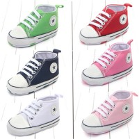 New Canvas Classic Sports Sneakers Newborn Baby Boys Girls First Walke