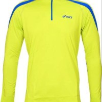 Baselayer Elite Asics Essential Winter LS Shirt Motion Therm Lime