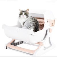 Cat Litter Box Semi-Automatic Quick Cleaning Luxury Cat Toilet Tray