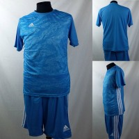 Setelan Baju/Kaos Sepak Bola/Futsal Dri-Fit Print Dewasa Adidas Biru 6