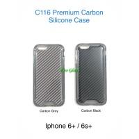 C116 Iphone 6 Plus / 6s+ Premium Carbon Silicone Case / Casing Armor