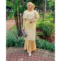 Kebaya Ana / Kebaya Modern Brokat Tulle Terbaru Pesta Warna Kuning