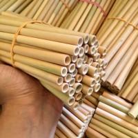 Sedotan Bambu Medium 1 kg isi 120 pcs ( Bamboo Straw )