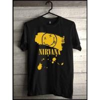 Kaos Nirvana / kaos band Musik Grunge, Baju,Pakaian Rock Distro Murah