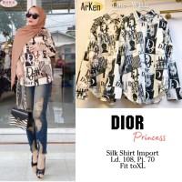 Baju atasan wanita blouse muslim Dior Princess Top