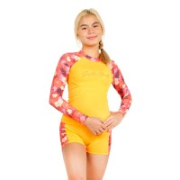 Surfer Girl Tropical Island Long Sleeve Yellow 19WITLSR01PCH