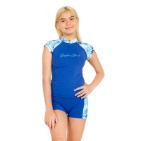 Surfer Girl Tropical Island Short Sleeve Blue 19WITRSS01NVY
