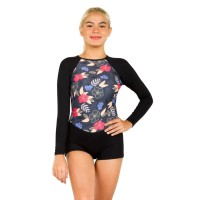 Surfer Girl Tropical Island Shortie 19WITSS01BLK