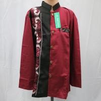 Jasko Jas Koko Baju Koko Anak Laki - laki Merah Hitam Lengan Panjang