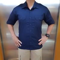 Seragam Baju Kemeja Pendek Trans Net TV Hitam Krem Biru Navy PDH PDL - M